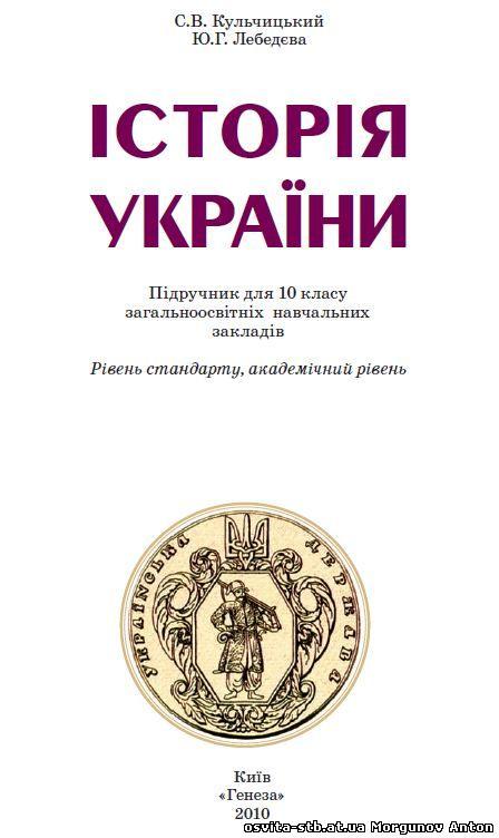 Название історія україни рівень